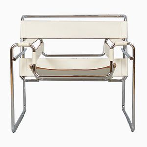 Vintage Cream Wassily B3 Chair by Marcel Breuer for Gavina