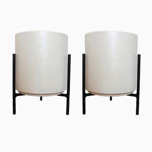 Übertöpfe aus Keramik auf Dreibein-Ständer von Gainey Pottery, 1960er, 2er Set