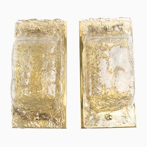Murano Glass and Brass Sconces from Cossack, 1960s, Set of 2