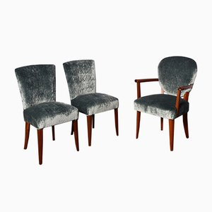 Art Deco Chairs, 1930s, Set of 3