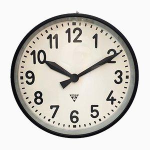Grande Horloge d'Usine Industrielle de Pragatron, 1950s