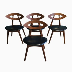 Eye Chairs by Ejvind A. Johansson for Ivan Gern, 1961, Set of 4