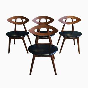 Eye Chairs von Ejvind A. Johansson für Ivan Gern, 1961, 4er Set