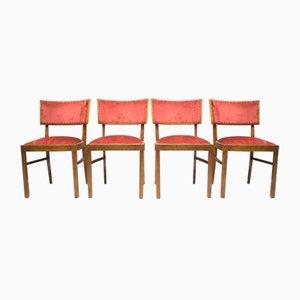 Chaises de Salon Art Déco, 1940s, Set de 4