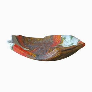 Mid-Century Freeform Bowl by Marcello Fantoni for Fantoni Ceramic Studio