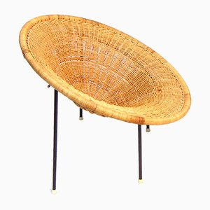 Swedish Rattan Armchair, 1950s