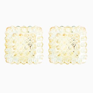 Glass Wall Lamps, 1960s, Set of 2