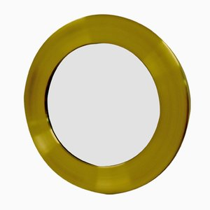 Large Mirror with Brass Frame from Glasmäster, 1970s