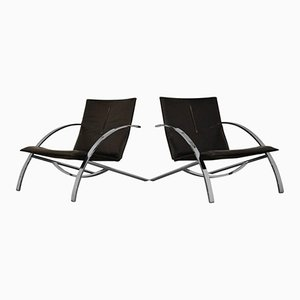 Arco Lounge Chairs by Paul Tuttle for Strässle, 1978, Set of 2