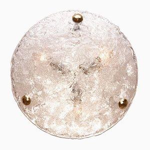 Plafón vintage de cristal de Murano de Hillebrand