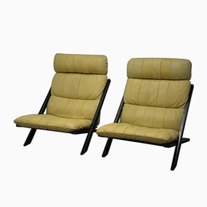 Patchwork Leather Lounge Chairs by Ueli Berger for de Sede, 1970s, Set of 2