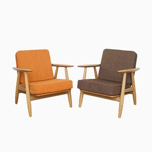 Vintage GE-240 Cigar Chairs by Hans J. Wegner for Getama, Set of 2