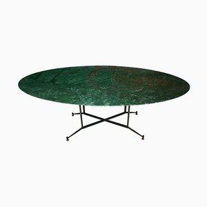Mesa de comedor india de mármol verde, años 50