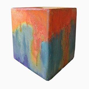 Würfelförmige Vase von Marcello Fantoni, 1960er