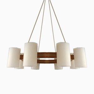 Lámpara de techo sueca vintage de Uno & Östen Kristiansson para Luxus