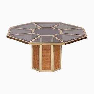 Mesa de centro Glam italiana octogonal de Romeo Rega, años 70