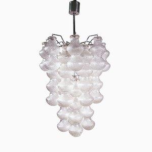 Lámpara de techo de vidrio burbuja de Napoleone Martinuzzi para Seguso, años 60