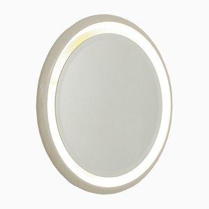 Espejo italiano redondo retroiluminado, años 70