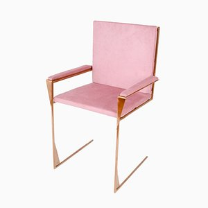 Frame Chair in Copper and Cotton Velvet by COSE