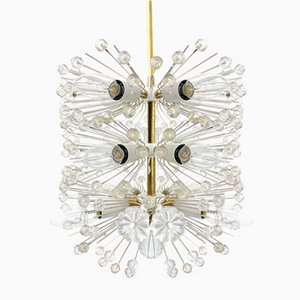 Lámpara de araña Sputnik Dandelion de Emil Stejnar, años 50