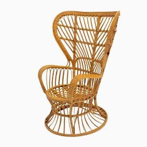 Chaise en Osier par Lio Carminati, Italie,1940s