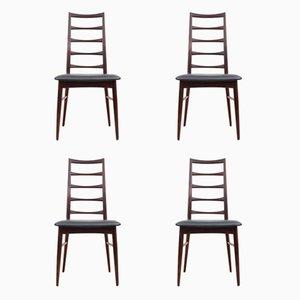 Scandinavian Rosewood Lis Chairs by Niels Koefoed, 1960s, Set of 4