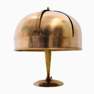 Lampada da tavolo Art Déco in rame, anni '30