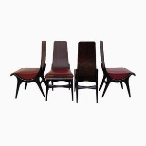 Italienische Stühle von Pozzi & Verga, 1960er, 4er Set