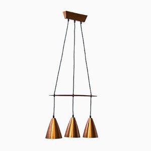 Lámpara de techo escandinava vintage de Hans-Agne Jakobsson, años 50