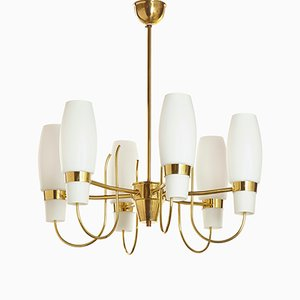 Brass Chandelier from Nikoll Vienna, 1950s