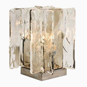 Lámparas de mesa de vidrio de Carlo Nason para Mazzega, años 70. Juego de 2