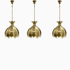 Lámparas colgantes grandes de Svend Aage Holm Sørensen, años 70. Juego de 3