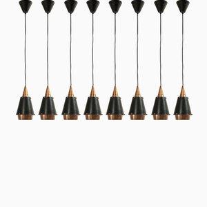 Lámparas de techo escandinavas, años 60. Juego de 8
