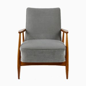 Grey Lounge Armchair, 1960s