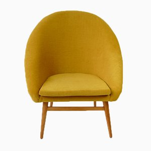 Sedia Shell gialla, anni '60