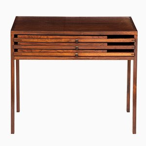 Rosewood Nesting Tables by Illum Wikellso for CFC Silkeborg, 1960s