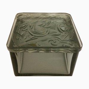 Caja Ingrid vintage de vidrio de Henry Günther Schlevogt