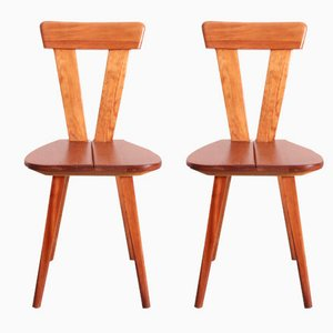 Polish Chairs by Wincze and Szlekys for Lad, 1940s, Set of 2