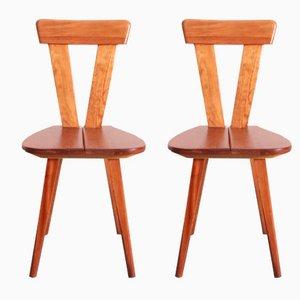 Polnische Stühle von Wincze und Szlekys für Lad, 1940er, 2er Set