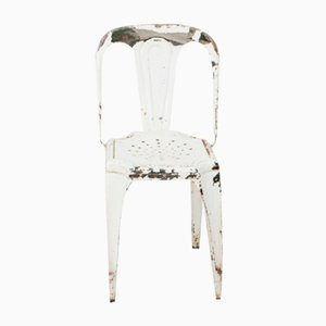 Chaise Blanche Vintage de Fibrocit