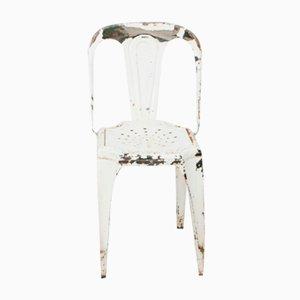 Weißer Vintage Stuhl von Fibrocit