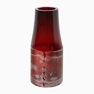 Dark Ruby Colored by Copper Co Co Vase by Milena Kling, 2015