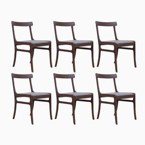 Chaises Modèle Rungstedlund Chairs en Acajou par Ole Wanscher pour Poul Jeppesens Møbelfabrik, 1960s, Set de 6