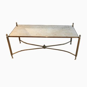 Table Basse en Laiton, 1940s