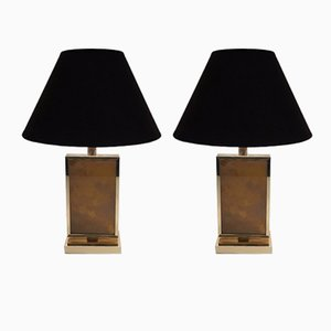 Vintage Gilt Lamps, 1970s, Set of 2