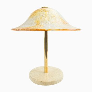 Murano Glass & Brass Table Lamp from Temde, 1960s