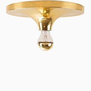Brass Disk Ceiling Lamp, 1960s