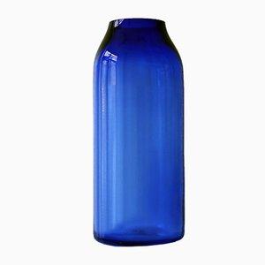 Vaso Raw grande in vetro blu di Milena Kling