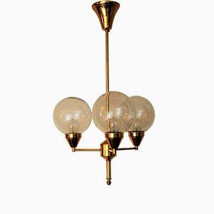 Lampada da soffitto in ottone, anni '60