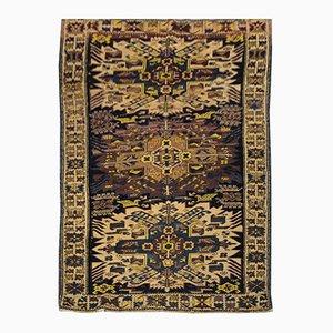 Antiker Kasachischer Shirvan Teppich in Blau mit Adler
